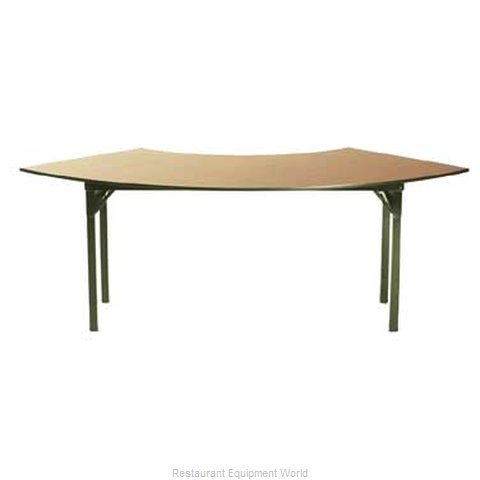 Maywood Furniture DLORIG7230CR4 Folding Table, Serpentine/Crescent