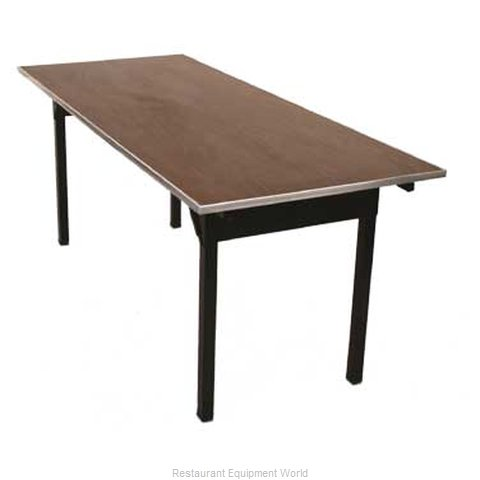 Maywood Furniture DLORIGLW2472 Folding Table, Rectangle (Magnified)