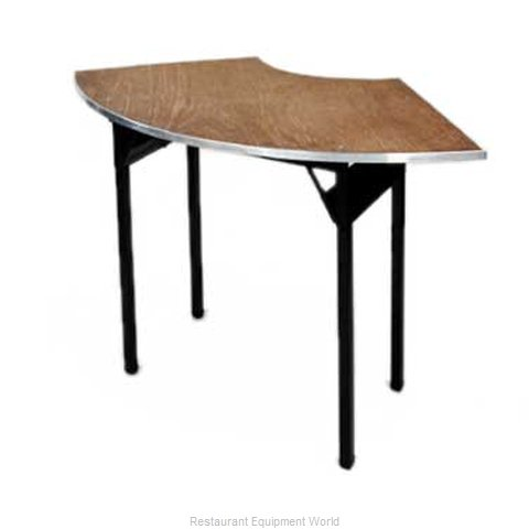 Maywood Furniture DPORIG6030CR4 Folding Table, Serpentine/Crescent