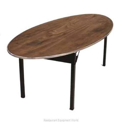 Maywood Furniture DPORIG6072OVAL Folding Table Oval