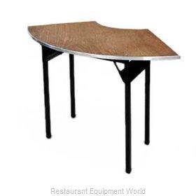 Maywood Furniture DPORIG9030CR6 Folding Table, Serpentine/Crescent