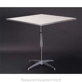 Maywood Furniture MF30SQPEDADJ Table, Indoor, Adjustable Height