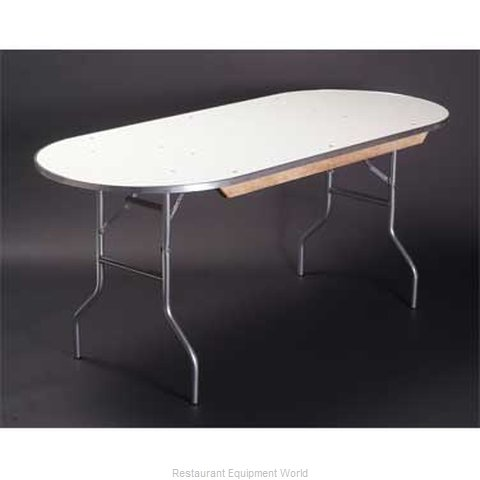 Maywood Furniture MF4296RACE Folding Table, Oval