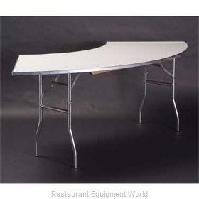 Maywood Furniture MF4830CR4 Folding Table, Serpentine/Crescent