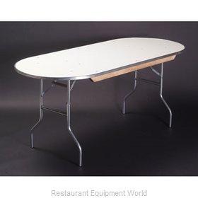 Maywood Furniture MF4896RACE Folding Table, Oval
