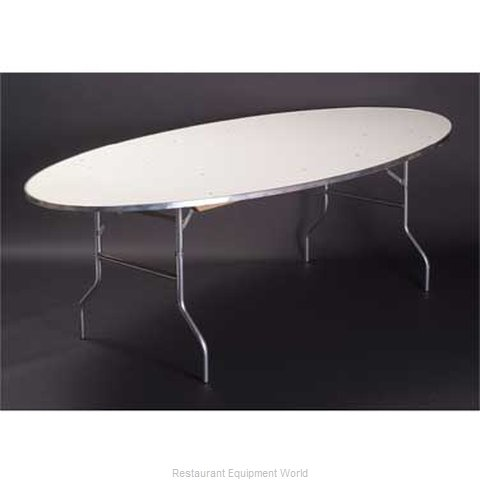 Maywood Furniture MF6072OVAL Folding Table, Oval (Magnified)