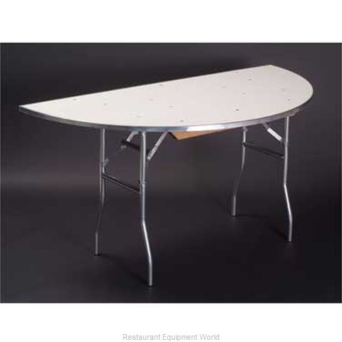 Maywood Furniture MF60HR Folding Table, Round (Magnified)