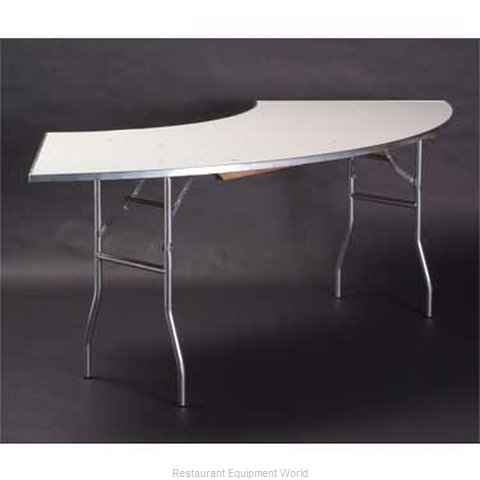 Maywood Furniture MF7230CR4 Folding Table, Serpentine/Crescent