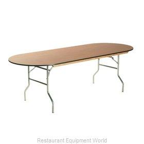 Maywood Furniture ML3096RACE Folding Table, Oval