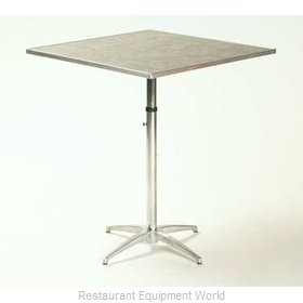 Maywood Furniture ML30SQPEDADJ Table, Indoor, Adjustable Height