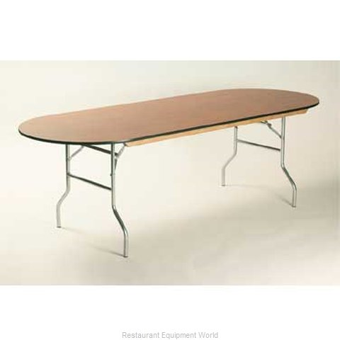 Maywood Furniture ML3696RACE Folding Table, Oval (Magnified)