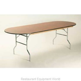Maywood Furniture ML3696RACE Folding Table, Oval