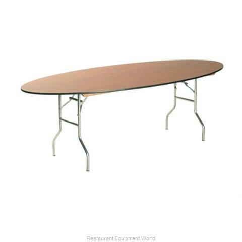 maywood furniture ml4296oval folding table oval