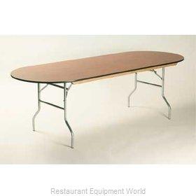 Maywood Furniture ML4296RACE Folding Table, Oval