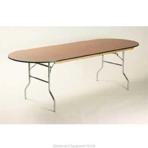 Maywood Furniture ML4872RACE Folding Table, Oval