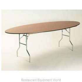 Maywood Furniture ML4896OVAL Folding Table, Oval