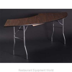Maywood Furniture ML6030CR4 Folding Table, Serpentine/Crescent