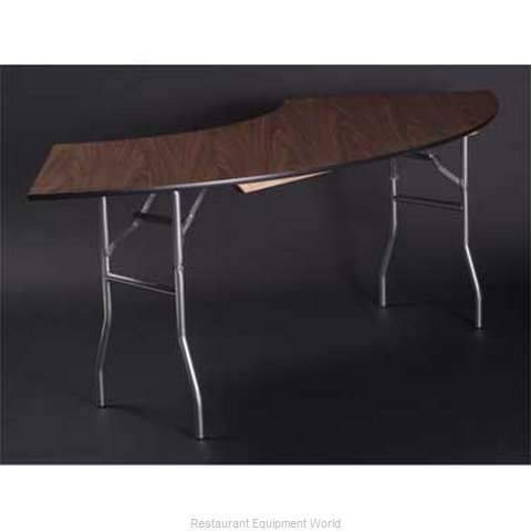Maywood Furniture ML6036CR4 Folding Table, Serpentine/Crescent