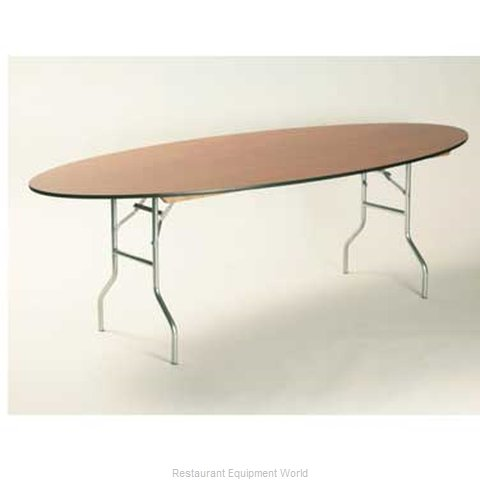 Maywood Furniture ML6072OVAL Folding Table Oval