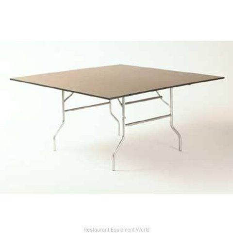 Maywood Furniture ML60SQFLD Folding Table, Square (Magnified)