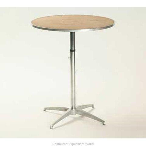 Maywood Furniture MP24RDPEDADJ Table, Indoor, Adjustable Height