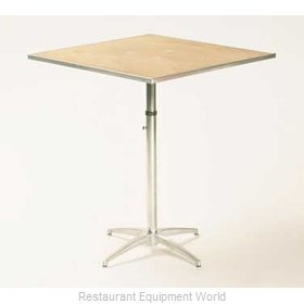 Maywood Furniture MP24SQPEDADJ Table, Indoor, Adjustable Height