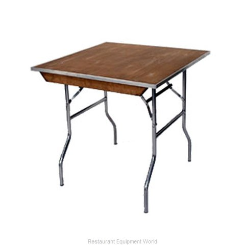 Maywood Furniture MP30SQFLD Folding Table, Square (Magnified)