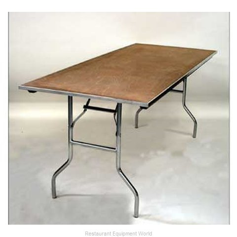 Maywood Furniture MP3672 Folding Table, Rectangle (Magnified)