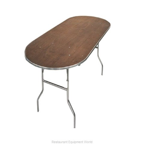 Maywood Furniture MP3696RACE Folding Table, Oval (Magnified)
