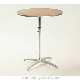 Maywood Furniture MP36RDPEDADJ Table, Indoor, Adjustable Height