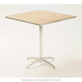 Maywood Furniture MP36SQPED3042 Table, Indoor, Adjustable Height