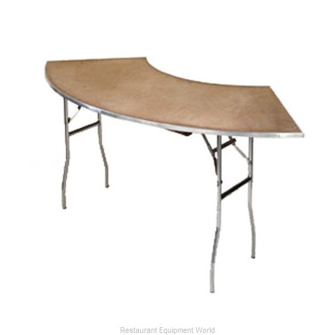 Maywood Furniture MP6030CR4 Folding Tables Crescent Serpentine
