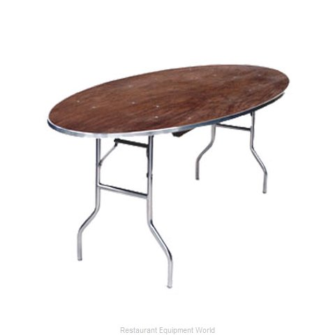 Maywood Furniture MP6072OVAL Folding Table Oval