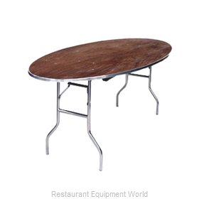 Maywood Furniture MP6072OVAL Folding Table, Oval