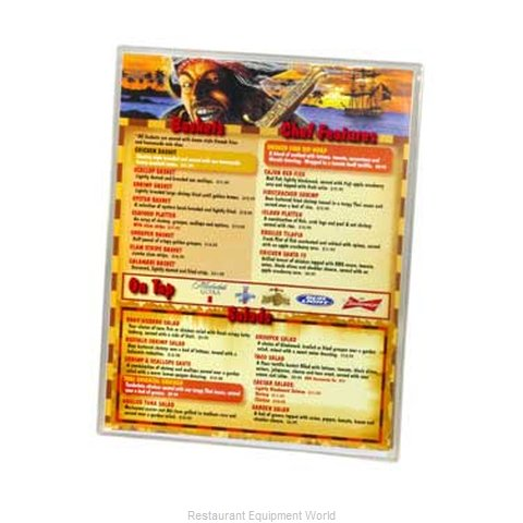 Menu Solutions CHS-100D Clear Heat Sealed Menu Covers