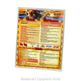 Menu Solutions CHS-100G Clear Heat Sealed Menu Covers
