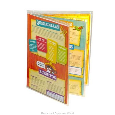 Menu Solutions CHS-600D Clear Heat Sealed Menu Covers (Magnified)