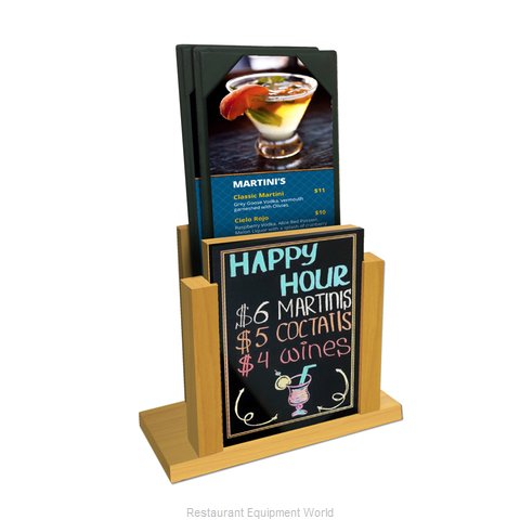 Menu Solutions WDMH-WET Tabletop Sign, Tent / Menu (Magnified)