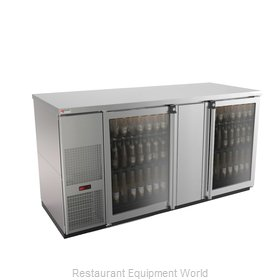 Micro Matic MBB68GS-E Back Bar Cabinet, Refrigerated