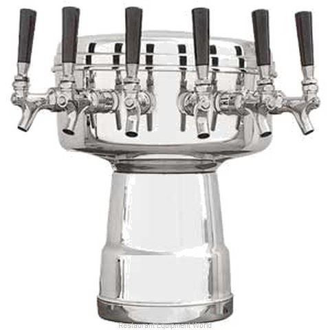 Micro Matic MTB-6PSS Draft Beer Dispensing Tower Head Unit (Magnified)