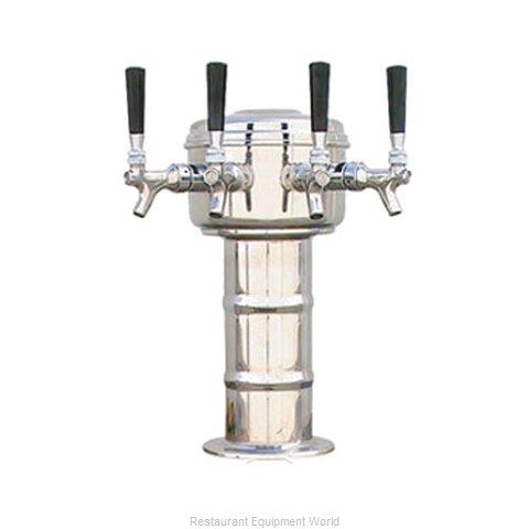 Micro Matic MTM-4PSS Draft Beer Dispensing Tower