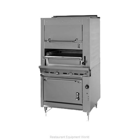 Montague Company 136W36 Broiler, Deck-Type, Gas