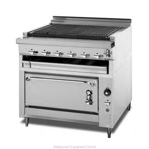 Montague Company 136XLB/UFLC-36R Range Heavy Duty Gas Charbroiler (Magnified)