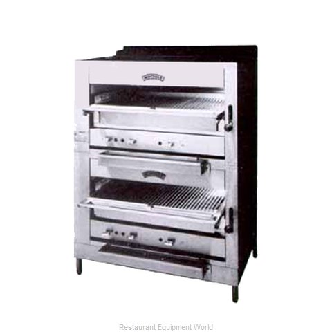 Montague Company 236W36 Broiler, Deck-Type, Gas