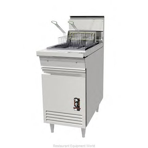 Montague Company RF40 Fryer Floor Model Gas Full Pot (Magnified)