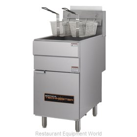 Montague Company TF40-4 Fryer, Gas, Floor Model, Full Pot