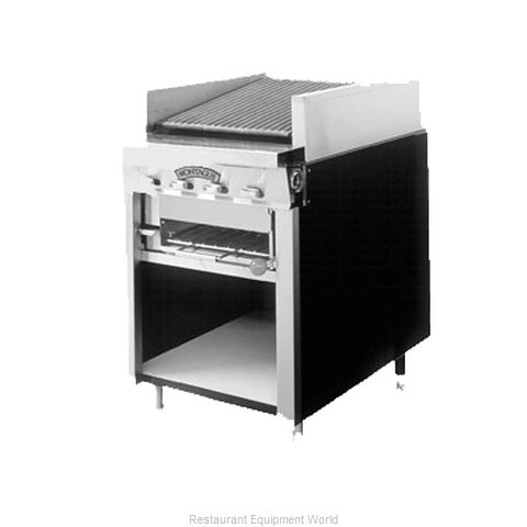 Montague Company UFS-24R Charbroiler, Gas, Floor Model (Magnified)