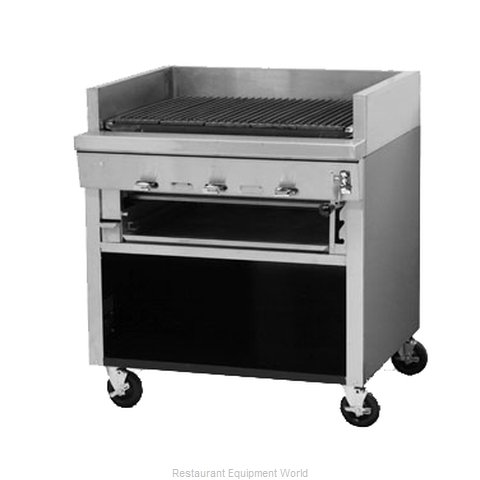 Montague Company UFS-72C Charbroiler, Gas, Floor Model (Magnified)