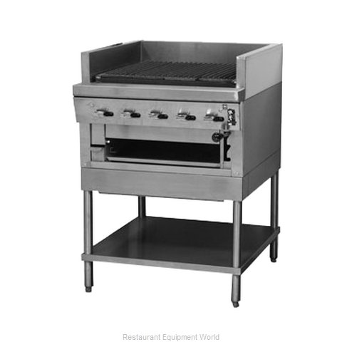 Montague Company UFSM-24C Charbroiler, Gas, Floor Model