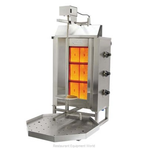 Axis AX-VB3 Vertical Broiler Gyro Gas (Magnified)